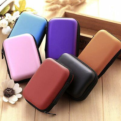 Carrying Storage Bag Pouch Hard Case for Earphone Headphone Earbud SD TF Card M2
