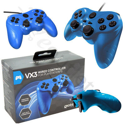 Genuine Gioteck VX-2 Wired Playstation 3 PS3 Controller - Red BRAND NEW