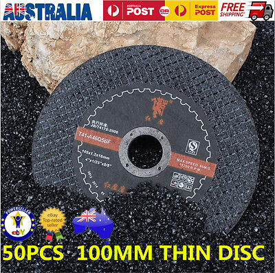 50Pcs 100Mm 80# Cutting Disc Wheel Thin Angle Grinder Cut Off Metal Steel Flap