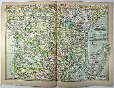 Original 1897 Map of Central Africa by The Centiru Company