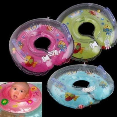 Baby Aids Infant Swimming Neck Float Inflatable Tube Ring Safety New Neck AU