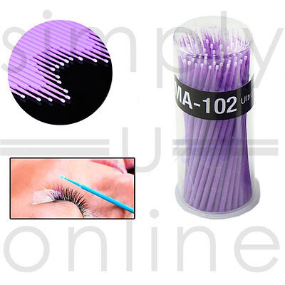 100 Micro Brush Disposable Microbrush Applicators - Eyelash Extensions
