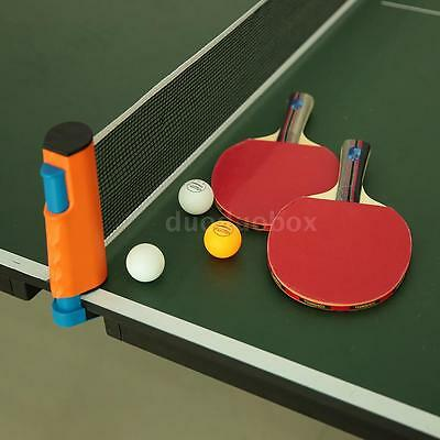 Table Tennis Set for 2 Players Ping Pong Bats 3 Balls 1 Net Complete Set DD W2W2
