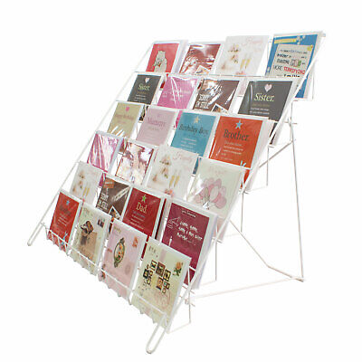 Large Collapsable Greeting Card Display in White for Shops & Stalls (E6W)