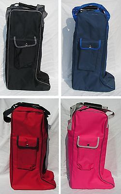 NEW Rhinegold Long Boot Bag 4 colours ideal Tack Room Travelling Storage