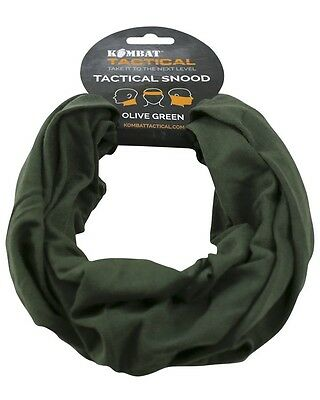 Olive Green  Cotton Tactical Snood / Balaclava / Hat / Scarf/ Headover 3 In 1