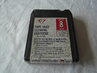 8 Track Tape Head Cleaning Cartridge by Entec New and Vintage