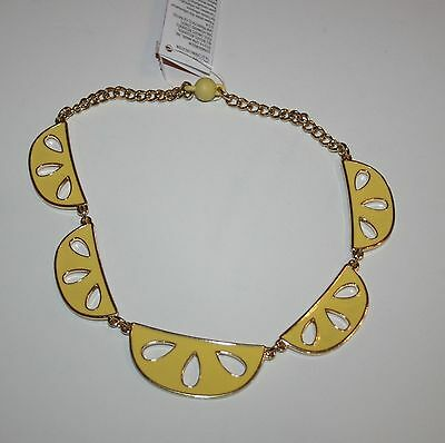 New Gymboree Sunny Citrus Line Sunny Lemon Slice Chain Necklace One Size NWT