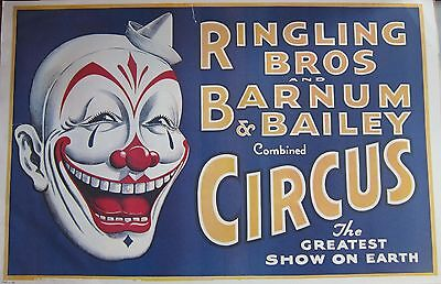 Ringling Brothers Barnum & Bailey Circus Clown Poster