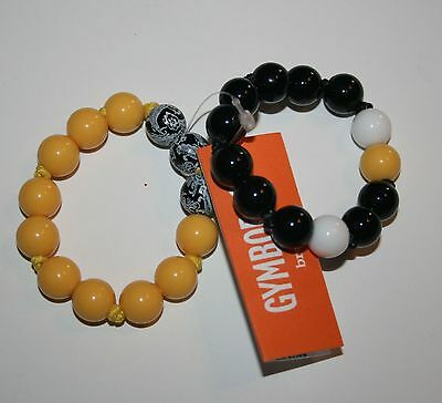 New Gymboree Black & Yellow 2 Stretch Sparkle Beaded Bracelets NWT Bracelet