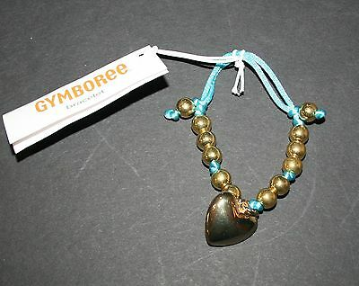 New Gymboree Metallic Gold Heart Charm Bracelet NWT Friendship Camp Line Jewelry
