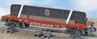 American Flyer Lionel 6-48544 Western Maryland Flat Car With Girder S Scale