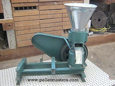 """Non-Powered 5"""" Pulley Drive Pellet Mill. Make feed or fuel pellets. USA In-stock"""