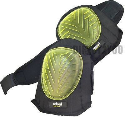 Toolzone GEL KNEE PADS Caps Cups Strap Profession industrial strength heavy duty