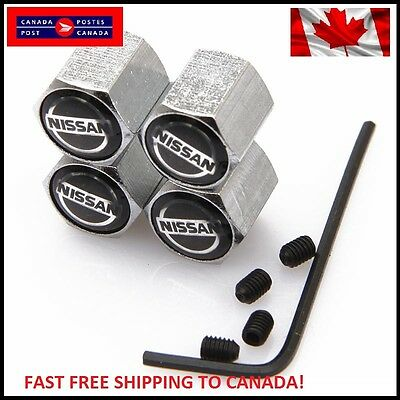 Nissan Emblem Silver Chrome Car Wheel Tire Air Valve Caps Stem Dust Cover Nismo