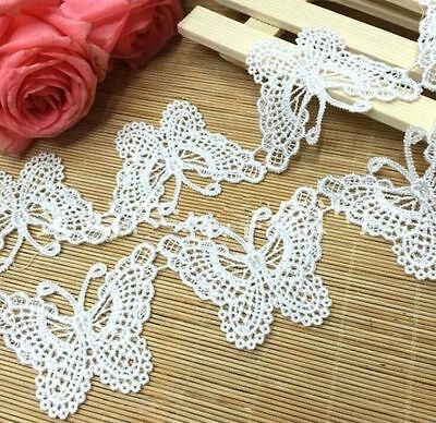 FD3056 Butterfly Embroidered Lace Sewing Trim Dress DIY Craft Appliques ~1 Yard~