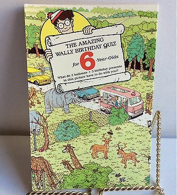 Vintage Where's Wally 6th Birthday Large Card 1991 Craft Collage NO ENVELOPE