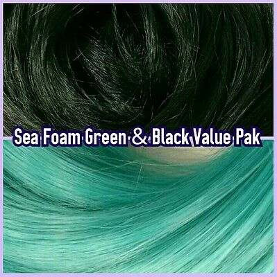 Teal & Black XL 4oz 2 Color Value Pack Rerooting Doll Hair for My Little Pony