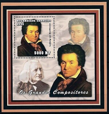 Mozambique 2002 Music Composers Ludwig van Beethoven Opera m/s MNH