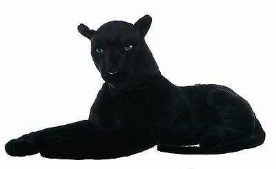 "33"" (84 cm) Large Black Panther Wild Real Life Features Soft Plush  48669X"