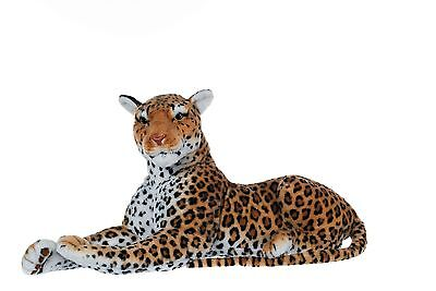 "28"" (71 cm) Medium Leopard Wild Real Life Features Soft Plush  48665"