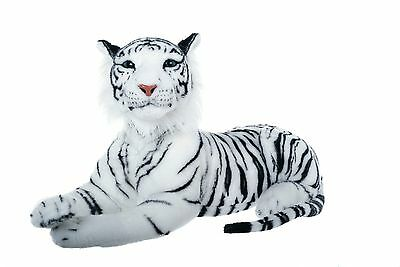 "28"" (71 cm) Medium White Tiger Wild Real Life Features Soft Plush  48662X"