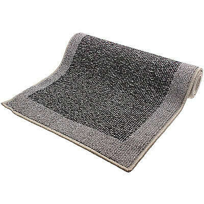 Madras Light Dark Grey Machine Washable Home Hallway Hard Wearing Carpet Runner