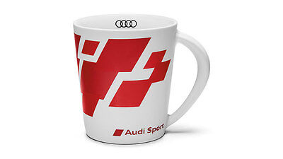 Audi Sport Cup Coffee Mug Drinking cup Porcelain red white - 3291600400