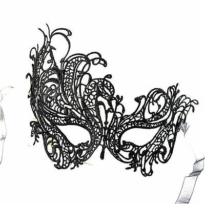 NEW Queen Mask Black Lace Party Ball Masquerade Mardi Gras 50 FIFTY SHADES Free