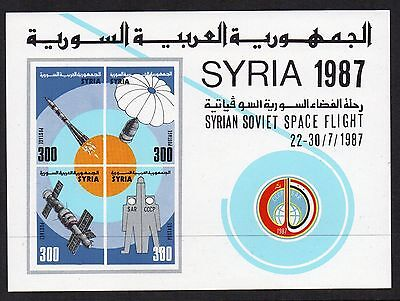 SYRIA 1987 SPACE FLIGHT Stamps MINI SHEET SGms1668 REF:QC646