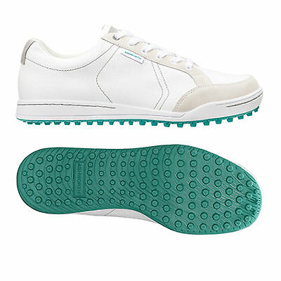 Ashworth Mens Cardiff Spikeless Golf Shoes Size 7 -New Waterproof Trainers White