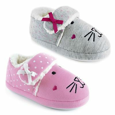 Girls Jersey Style Slippers