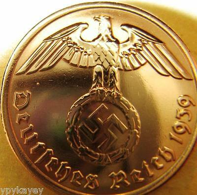 Nazi German 2 Reichspfennig 1939 Genuine Coin Third Reich EAGLE SWASTIKA RARE