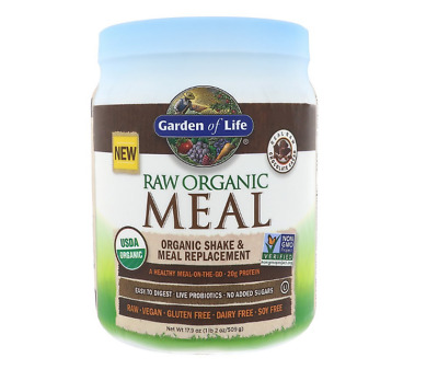 New Garden Of Life Raw Organic Shake & Meal Replacement Gluten Free Daily Care