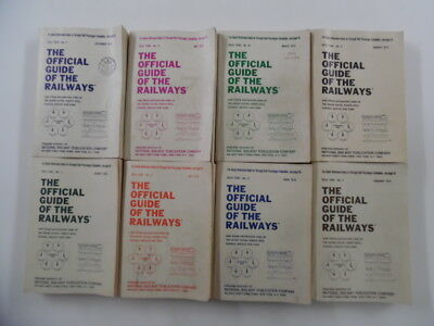 1970 Official Guide of the Railways Lot 8 Vols Jan Feb Mar Apr May Jul Aug Sep