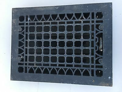 Antique Rectangular Cast Iron Floor GrateWith Louvers