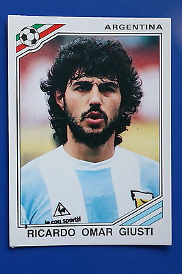 Panini WC MEXICO 86 STICKER N. 81 ARGENTINA GIUSTI  WITH BACK VERY GOOD/MINT
