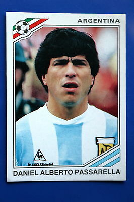 Panini WC MEXICO 86 STICKER N. 76 ARGENTINA PASSARELLA WITH BACK VERY GOOD/MINT