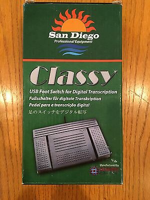 San Diego Professional Equipment USB Foot Switch Digital Transcription - NEW