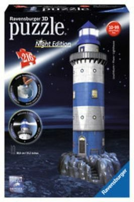 Ravensburger Lighthouse at Night with Lights 3D Jigsaw Puzzle (216-Piece)