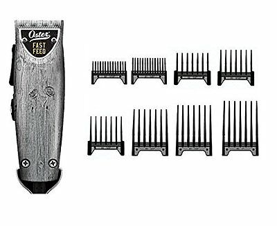 Oster Professional Driftwood Fast Feed Professional Clipper + 8-pc Comb Guides