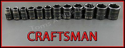 "CRAFTSMAN AIR TOOLS 12pc 1/2"" Dr Laser Etched SAE IMPACT socket wrench set"