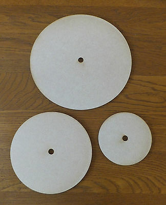 "3mm thick Wooden MDF Round Clock Face Dial blank craft shape 4"" 6"" 8"" diameters"