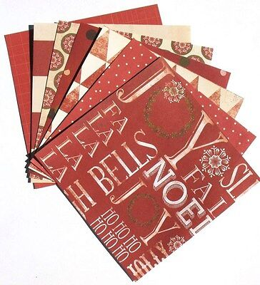 Red - 6x6 Recollections Sleigh Bells Ring Scrapbooking Paper Pack