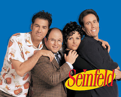 The Cast of Seinfeld, 8x10 Color Photo