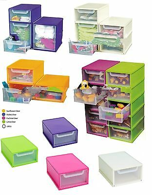 Uni Storage Toy A4 Paper Storage Unit Stacking Organiser Drawer Single Modular