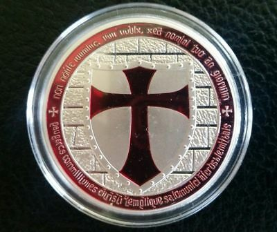1 OZ Masonic Cross Knights Templar Coin Round Bullion