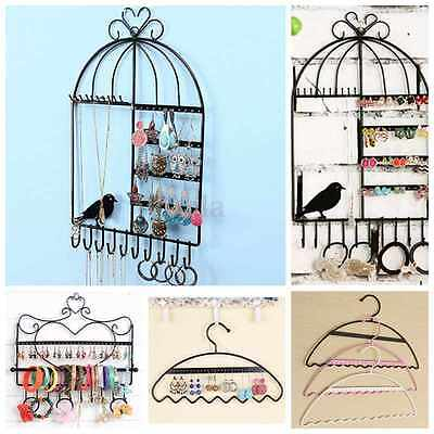 Metal Stand Rack Earring Necklace Bracelet Holder Jewelry Display Wall-mounted