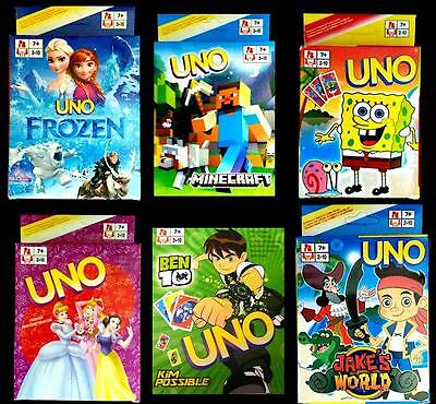 UNO Cards Standard Size Packs Assorted Titles New in Box Classic Game FREE POST
