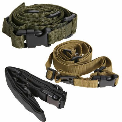 Tactical 3 Point Adjustable Bungee Rifle Sling Strap Swivels System for Hunting